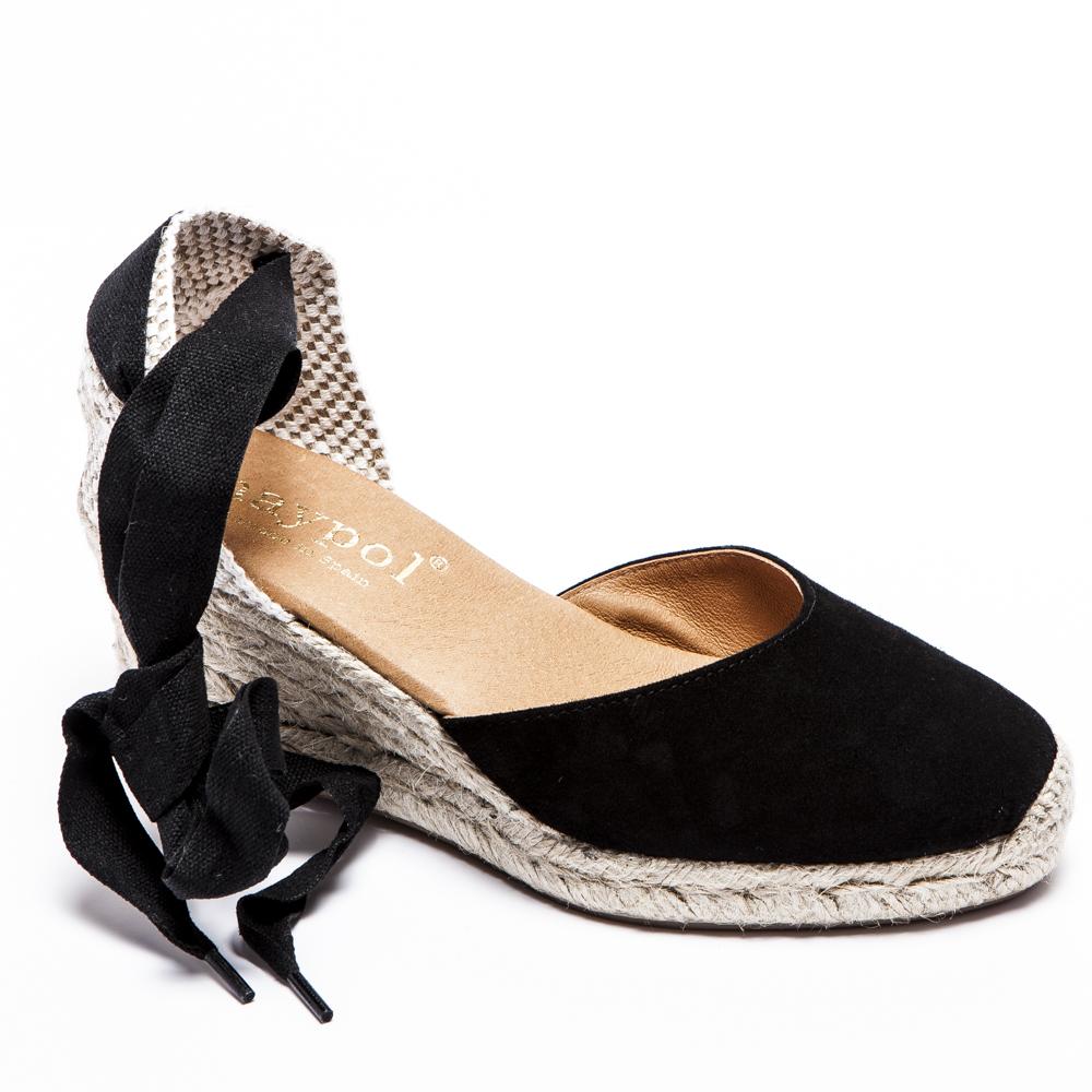 black lace up platform espadrilles