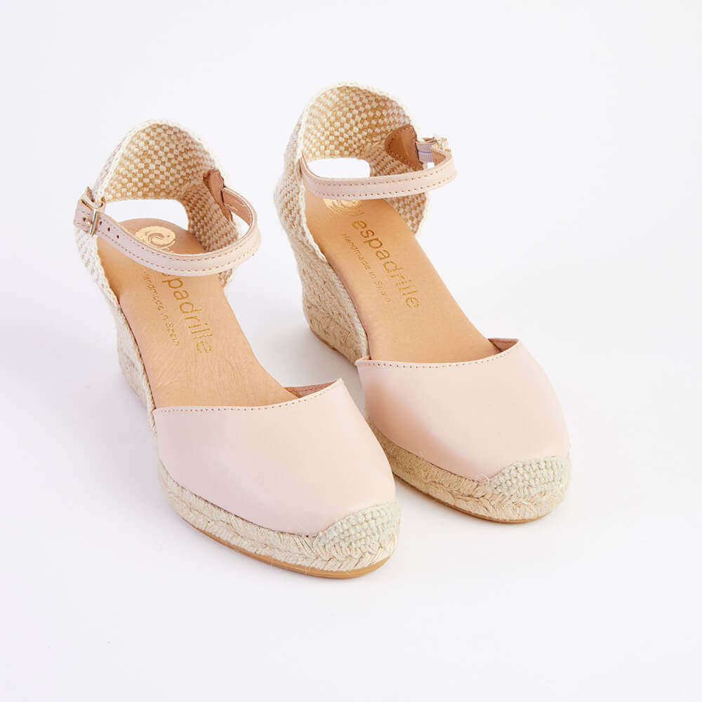 Made In Spain Leather Wedge Espadrilles | Wedge espadrille